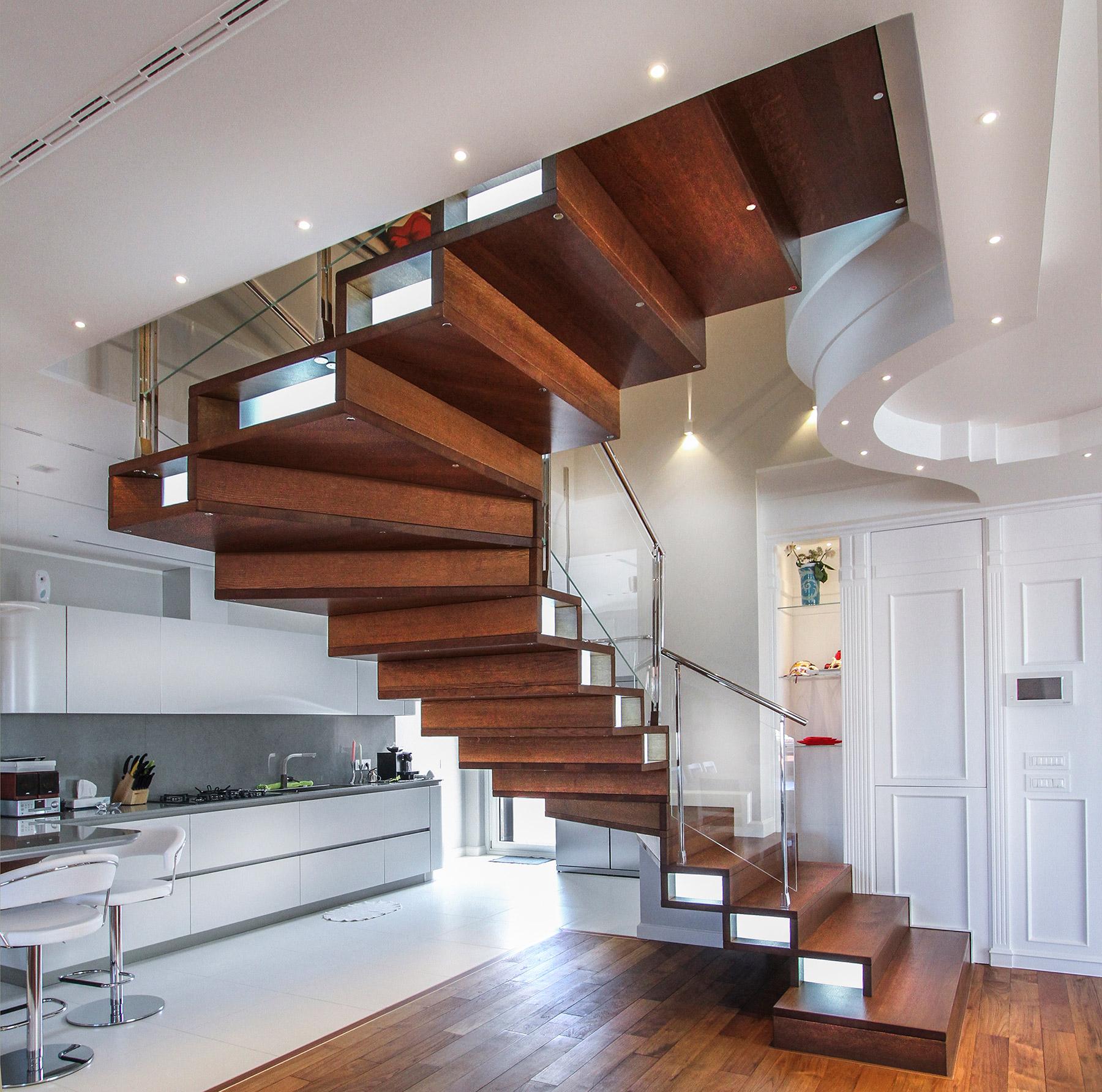 Huile Pour Escalier Hetre escalier compon fermé en bois - marretti scale