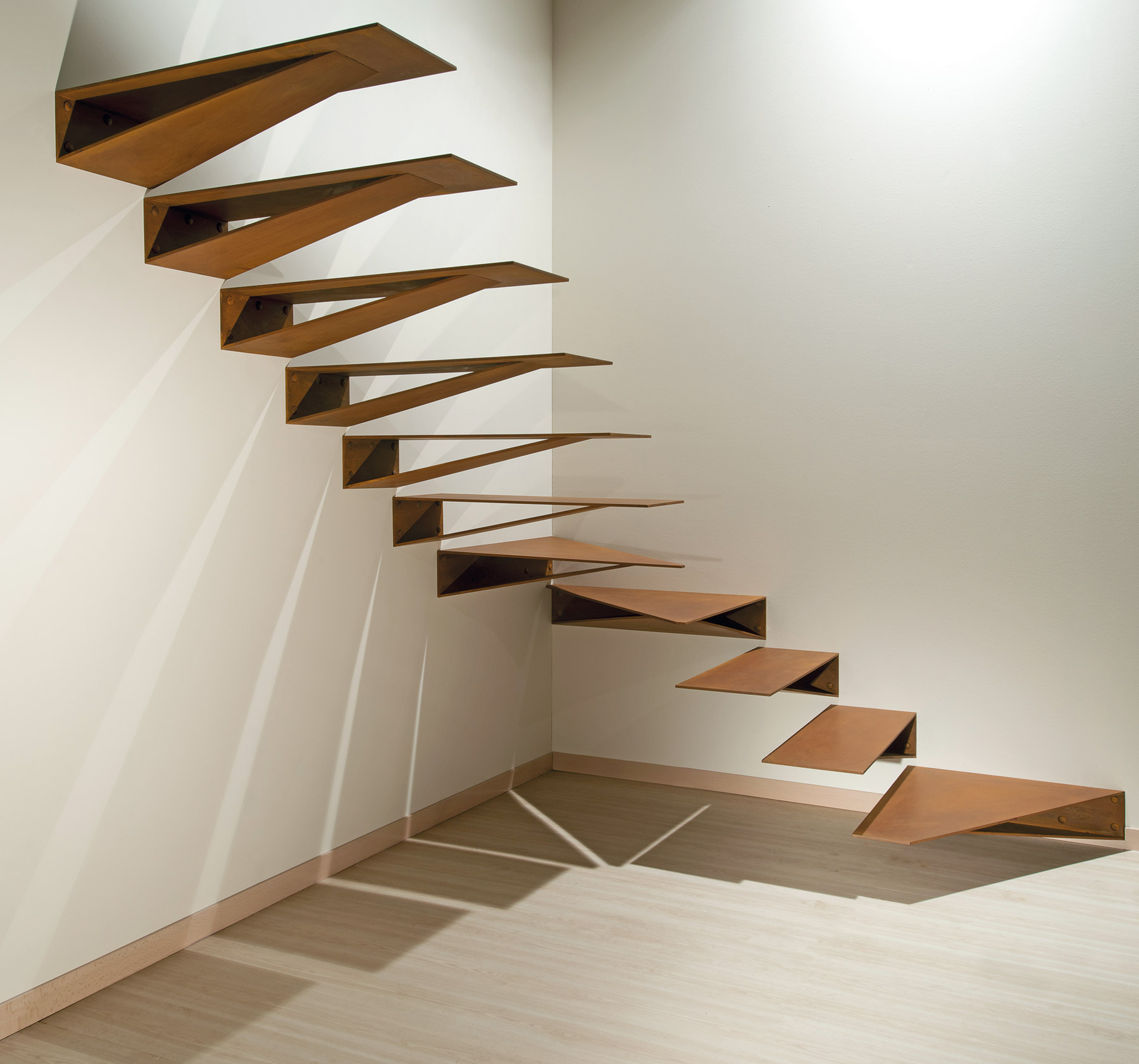 scala origami in corten by Marretti