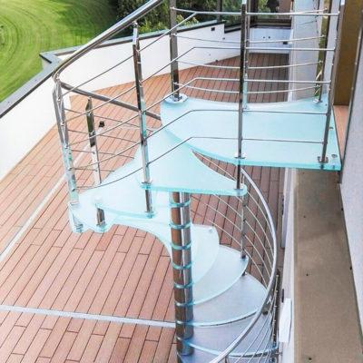 scale in vetro per esterni Marretti
